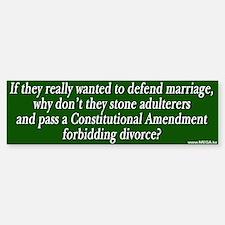 Defending Marriage Bumper Bumper Bumper Sticker