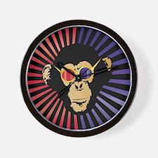 Cool Chimpanzee in 3d Glasses Wall Clock