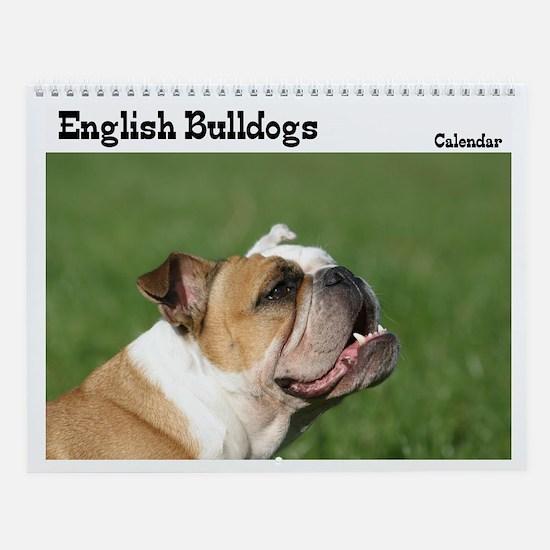 English bulldog Wall Calendar