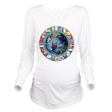 Ice Climbing Long Sleeve Maternity T-Shirt