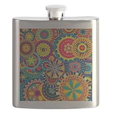 Funky Retro Pattern Flask