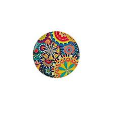 Funky Retro Pattern Mini Button (10 pack)