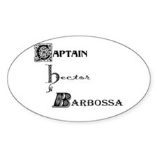 Captain Barbossa Oval Decal