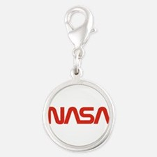 Nasa Snake (worm) Silver Round Charm Charms