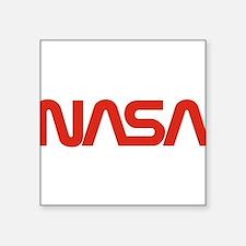 "NASA Snake (worm) Square Sticker 3"" x 3"""