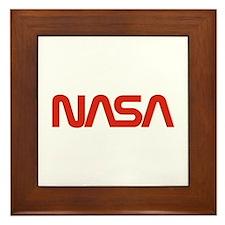 NASA Snake (worm) Framed Tile