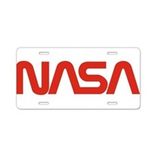 NASA Snake (worm) Aluminum License Plate