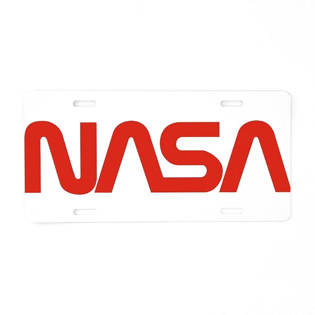 NASA Snake (worm) Aluminum License Plate by quatrosales