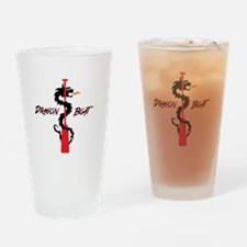 Tribal Paddle Text Drinking Glass