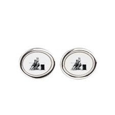 Rodeo Cowgirl Oval Cufflinks