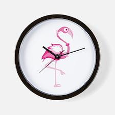 Pink Flamingo Wall Clock
