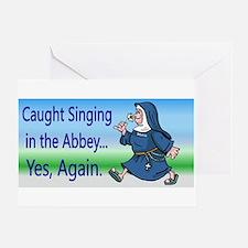 SingingNunPlates.png Greeting Cards