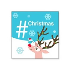 "Cute Personalized twitter Square Sticker 3"" x 3"""
