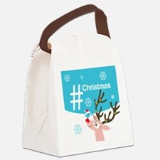 Cute Personalized twitter Canvas Lunch Bag
