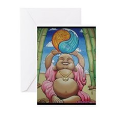 Jolly Buddha Greeting Cards