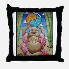 Jolly Buddha Throw Pillow