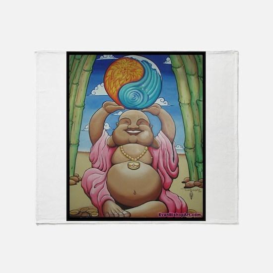 Jolly Buddha Throw Blanket