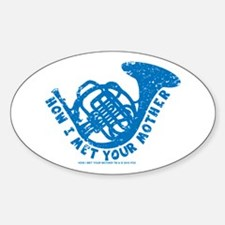HIMYM French Horn Sticker (Oval)