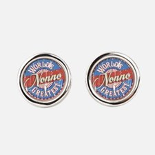 World's Greatest Nonno Round Cufflinks