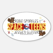 HIMYM Space Teens Sticker (Oval)