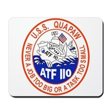 NAVY SHIPS THE USS QUAPAW ATF-110 PATCH. Mousepad