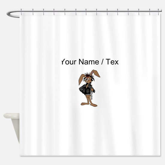 Custom Badass Bunny Shower Curtain
