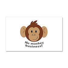 No Monkey Business Car Magnet 20 x 12