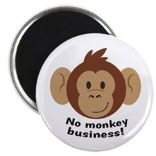 No Monkey Business Magnets