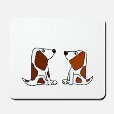 Basset Hound Dogs Mousepad