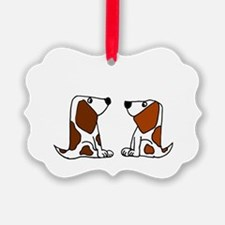 Basset Hound Dogs Ornament
