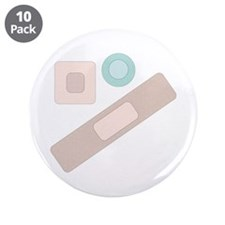 """Bandages 3.5"""" Button (10 pack)"""