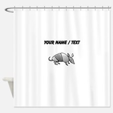 Custom Grey Armadillo Shower Curtain