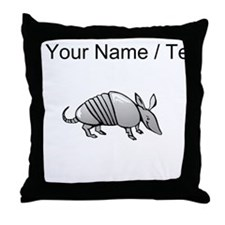 Custom Grey Armadillo Throw Pillow