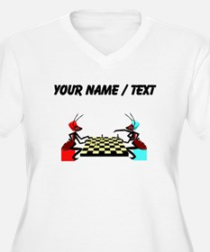 Custom Ants Playing Chess Plus Size T-Shirt