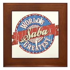World's Greatest Saba Framed Tile