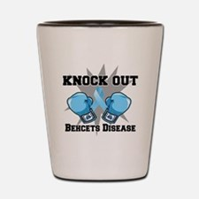 Knock Out Behcets Disease Shot Glass
