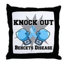 Knock Out Behcets Disease Throw Pillow