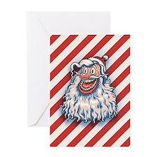 lowbrow-santa-LTT.png Greeting Cards
