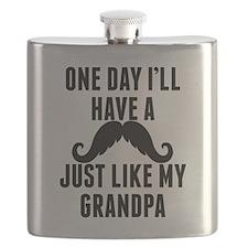 Mustache Just Like My Grandpa Flask