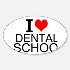 I Love Dental School Decal
