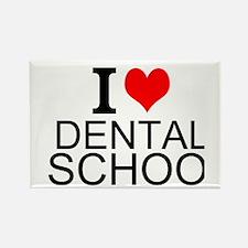I Love Dental School Magnets