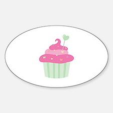 Valentine Cupcake Decal