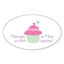 I Love Cupcakes Decal