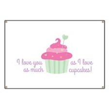 I Love Cupcakes Banner
