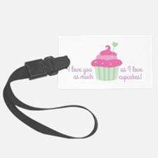 I Love Cupcakes Luggage Tag