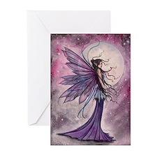 Starlit Amethyst Fairy Art Greeting Cards