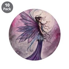 "Starlit Amethyst Fairy Art 3.5"" Button (10 pack)"