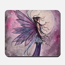 Starlit Amethyst Fairy Art Mousepad