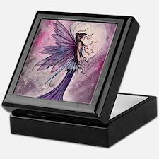Starlit Amethyst Fairy Art Keepsake Box