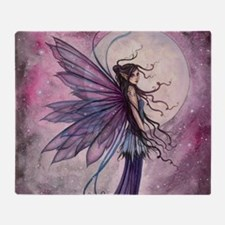Starlit Amethyst Fairy Art Throw Blanket